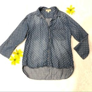 Cloth & Stone | Patterned Button Down Sz S
